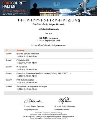 Vom 13.9. bis 15.9. besuchte ich den AGA Kongress in Linz/Oberösterreich